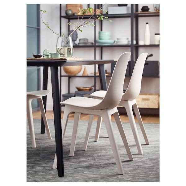 ODGER Cadeira, branco/bege