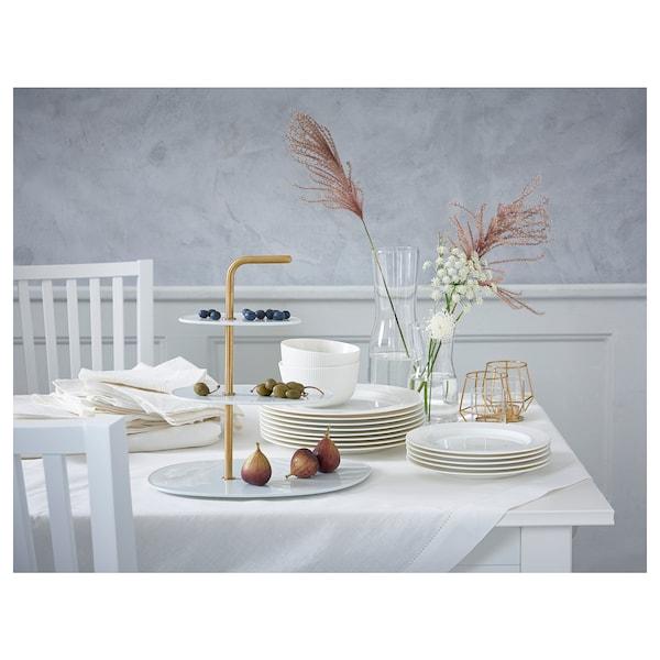 OFANTLIGT Prato de sobremesa, branco, 22 cm