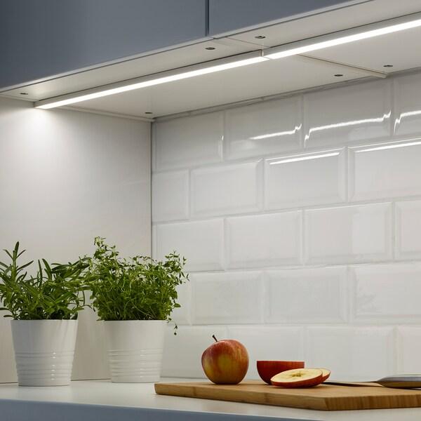 OMLOPP Iluminação LED p/bancada, branco, 60 cm