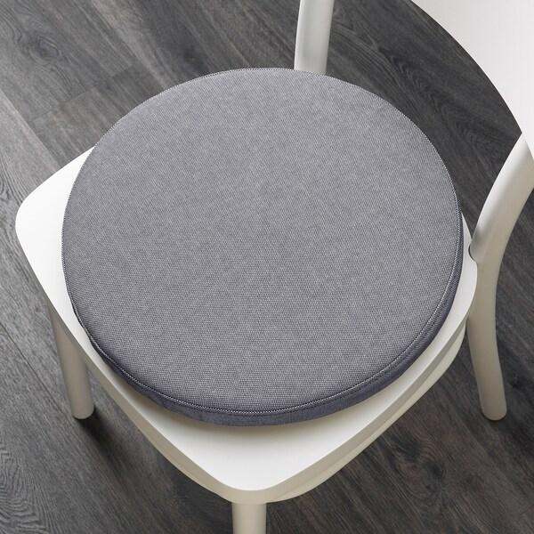 OMTÄNKSAM Almofada p/cadeira, Orrsta cinz clr, 38 cm