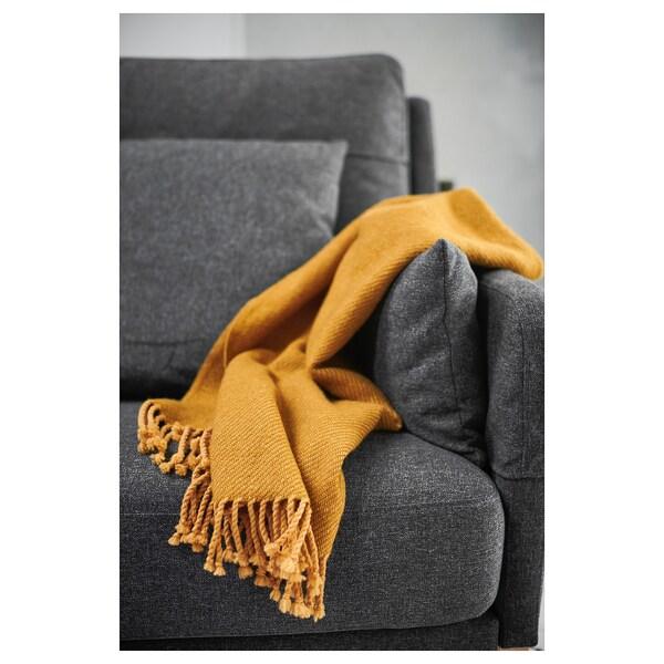 OMTÄNKSAM Manta, amarelo, 60x160 cm