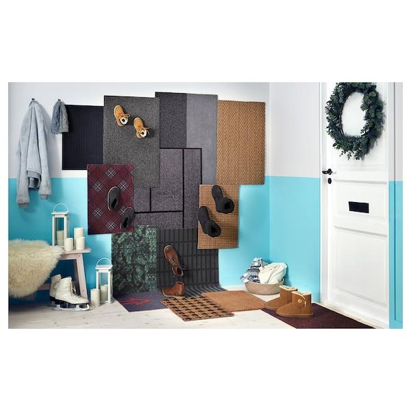 OPLEV tapete de entrada interior/exterior cinz 80 cm 50 cm 11 mm 0.40 m² 2000 gr/m² 580 gr/m² 8 mm