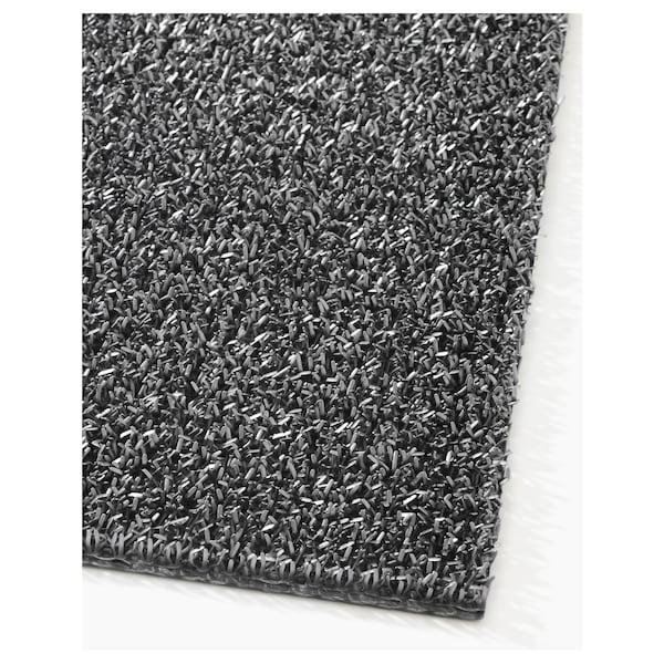 OPLEV Tapete de entrada, interior/exterior cinz, 50x80 cm