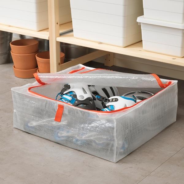 PÄRKLA Caixa de arrumação, 55x49x19 cm