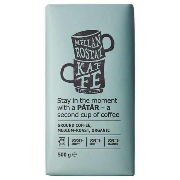 PÅTÅR café de filtro, torrado médio biológico/certificação UTZ/100% grãos Arábica 500 gr
