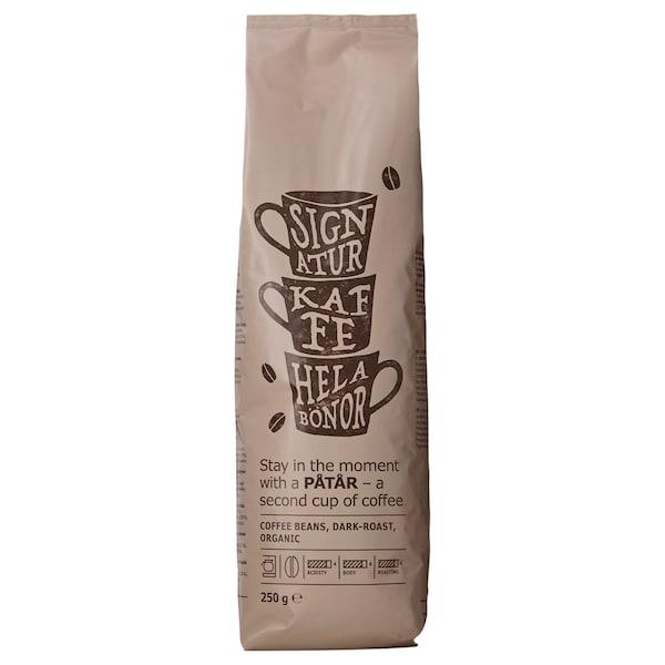 PÅTÅR café certificado, grãos biológico/certificação UTZ/100% grãos Arábica 250 gr