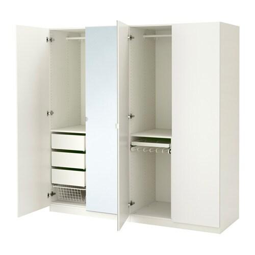 PAX Roupeiro, branco, Tanem Vikedal 200x60x201 cm dobradiças padrão