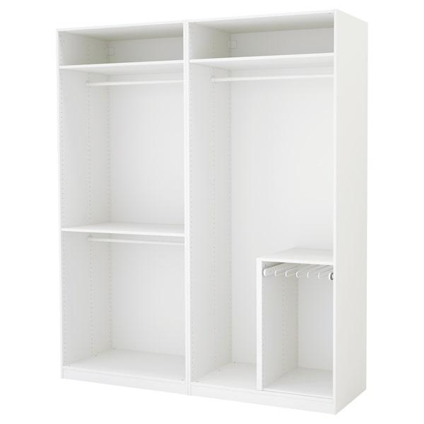 PAX roupeiro branco 200 cm 58 cm 236.4 cm