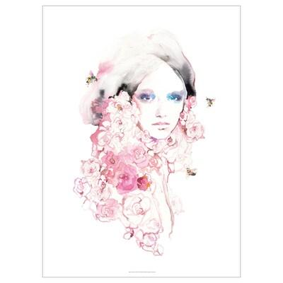 PJÄTTERYD Tela, Menina c/flores, 70x100 cm
