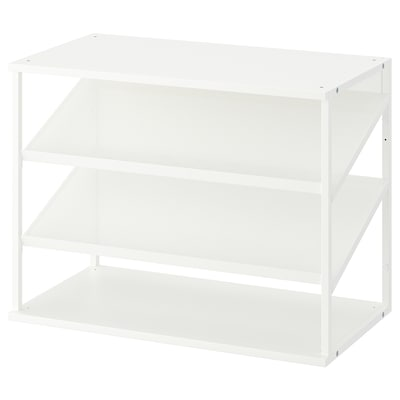 PLATSA Sapateira aberta, branco, 80x40x60 cm