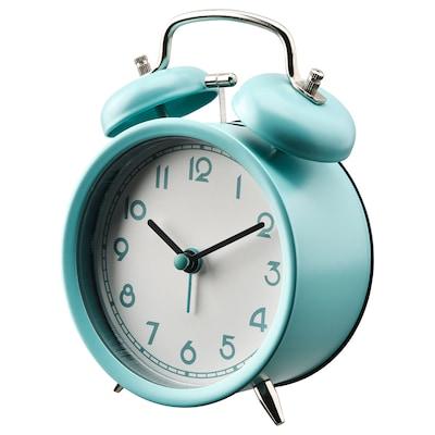 PLIRA Relógio despertador, turquesa, 10 cm