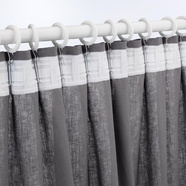 PORTION argola de cortinado c/clipe+gancho velatura branca 47 mm 3 kg 10 unidades