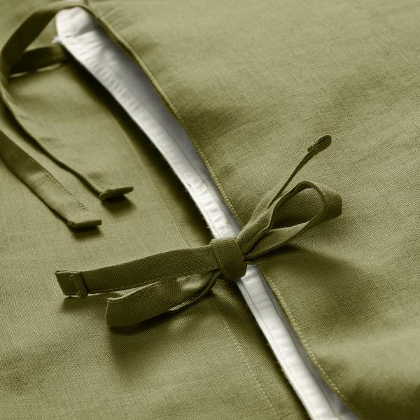 PUDERVIVA capa de edredão e 2 fronhas verde-azeitona claro 104 Polegada² 2 unidades 220 cm 240 cm 50 cm 60 cm