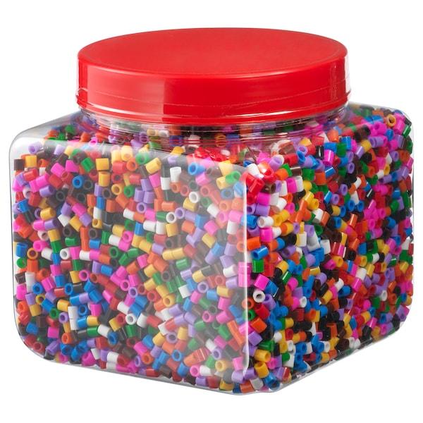PYSSLA Contas de plástico, várias cores, 600 gr