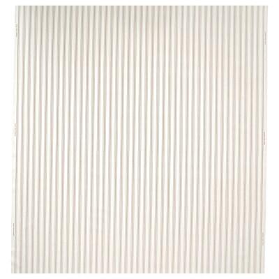 RADGRÄS Tecido a metro, branco/bege às riscas, 150 cm