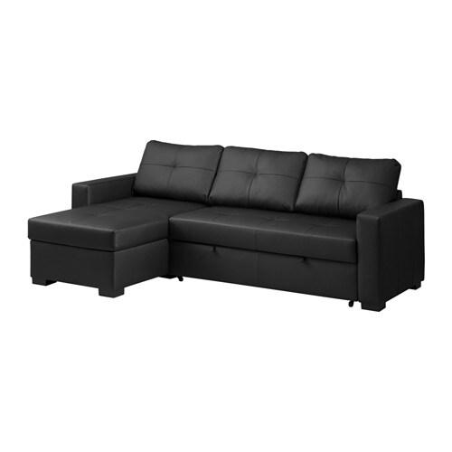 Ragunda sof cama de canto c arruma o kimstad preto ikea for Sofas de polipiel baratos