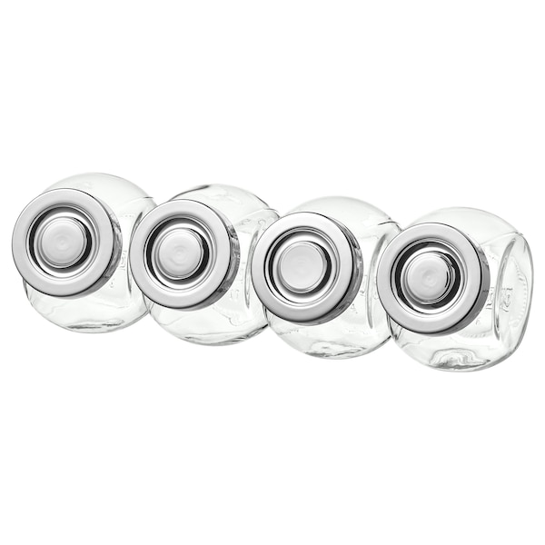 RAJTAN Frasco p/especiarias, vidro/cor de alumínio, 15 cl