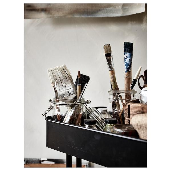 RÅSKOG Carrinho, preto, 35x45x78 cm