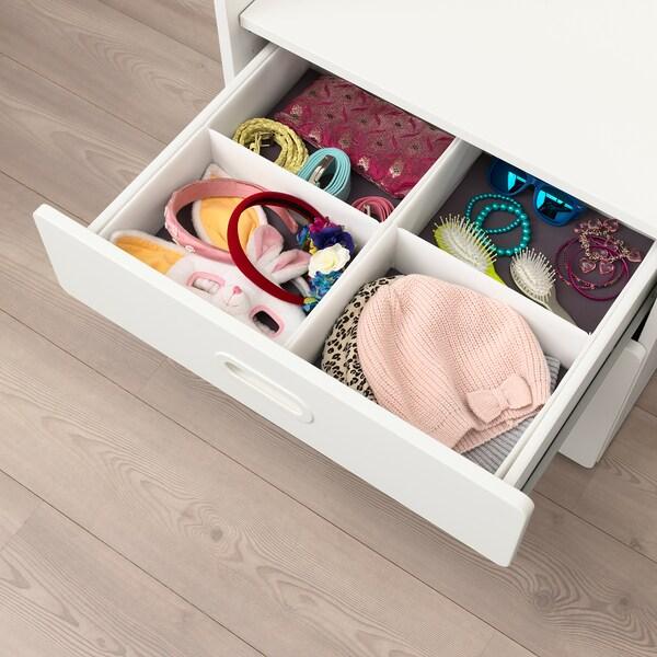 RASSLA caixa c/compartimentos branco 25 cm 41 cm 9 cm 2 unidades