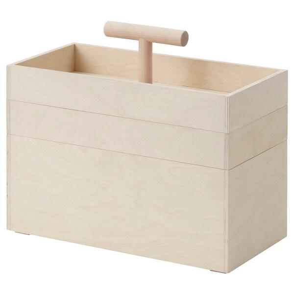 RÅVAROR Caixa de arrumação, contraplacado de bétula, 36x18x31 cm