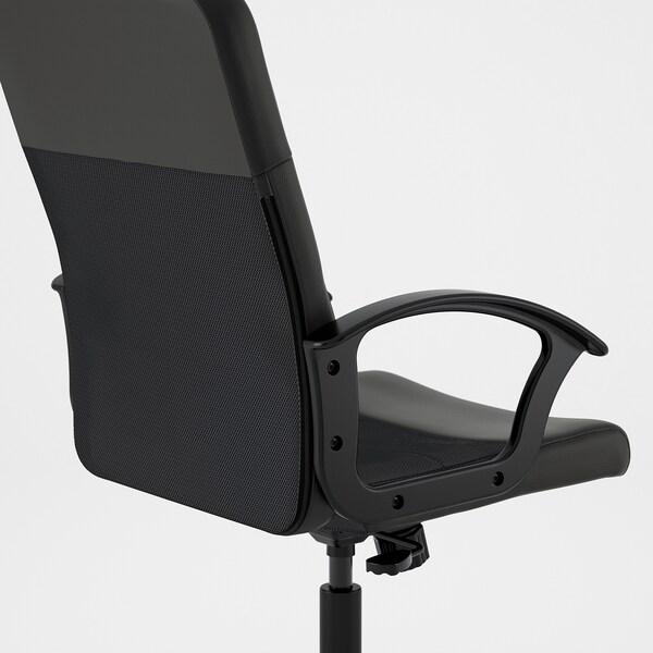 RENBERGET cadeira giratória Bomstad preto 110 kg 59 cm 65 cm 108 cm 49 cm 42 cm 45 cm 57 cm