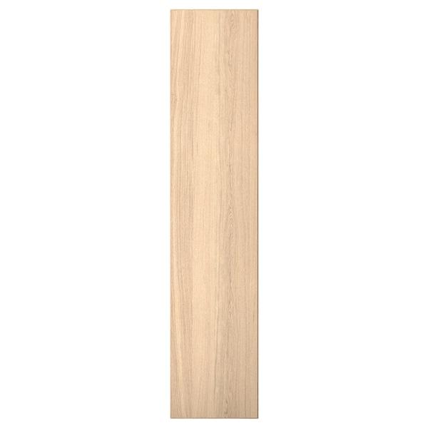 REPVÅG Porta c/dobradiças, chapa de carvalho c/velatura branca, 50x229 cm