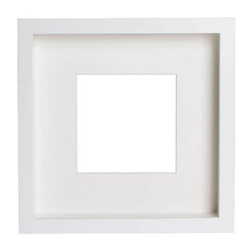 RIBBA Moldura, branco branco 23x23 cm