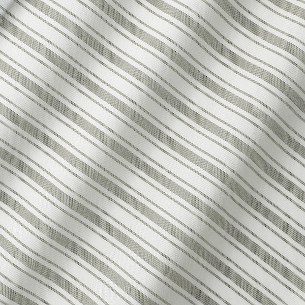 RINGBLOMMA Estore de tecido, branco/verde/às riscas, 80x160 cm