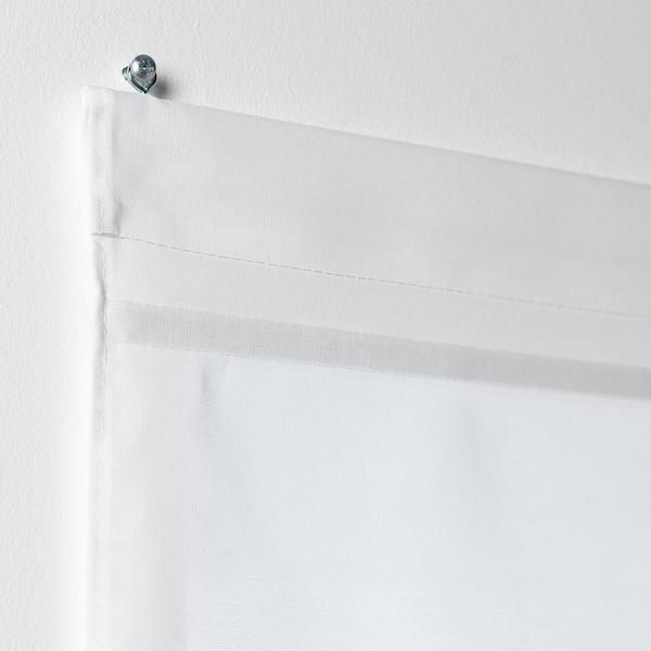 RINGBLOMMA Estore de tecido, branco, 140x160 cm