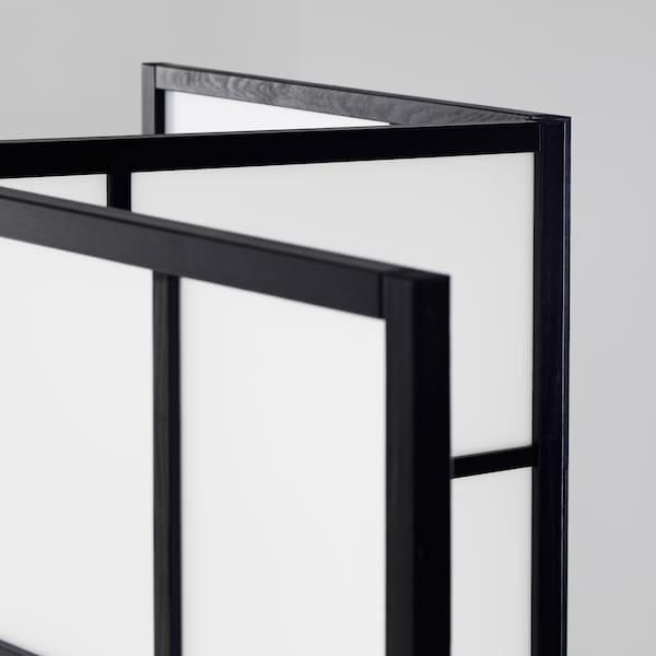 RISÖR Biombo, branco/preto, 216x185 cm