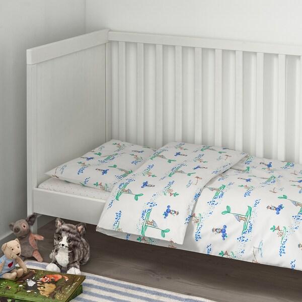 RÖDHAKE jogo de cama p/berço, 3 pçs rato marinheiro 60 cm 120 cm