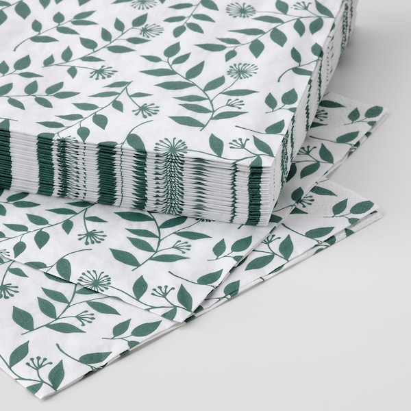 ROSENHÄTTA Guardanapo de papel, cores variadas, 33x33 cm