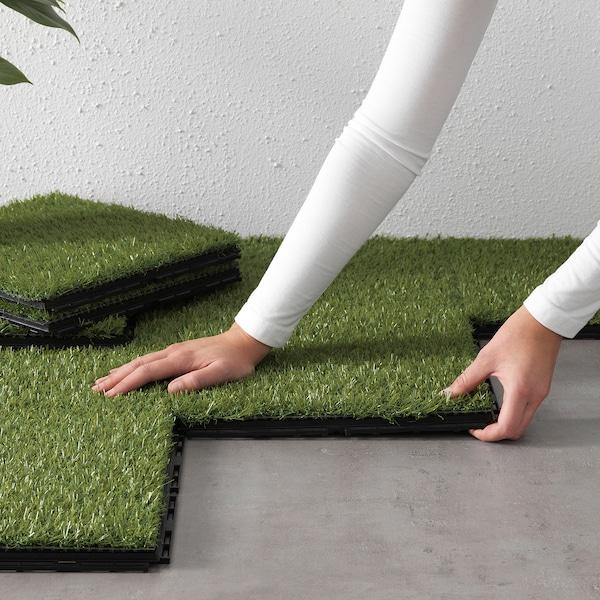 RUNNEN Pavimento, exterior, relva artificial, 0.81 m²