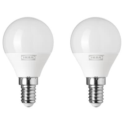 RYET Lâmpada LED E14 200 lúmens, globo branco opala