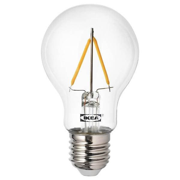 RYET Lâmpada LED E27 100 lúmenes, globo transparente