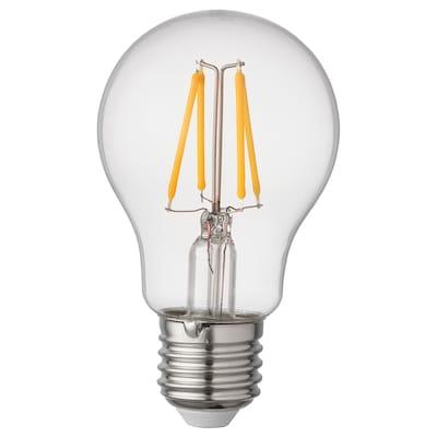 RYET Lâmpada LED E27 470 lúmenes, globo transparente