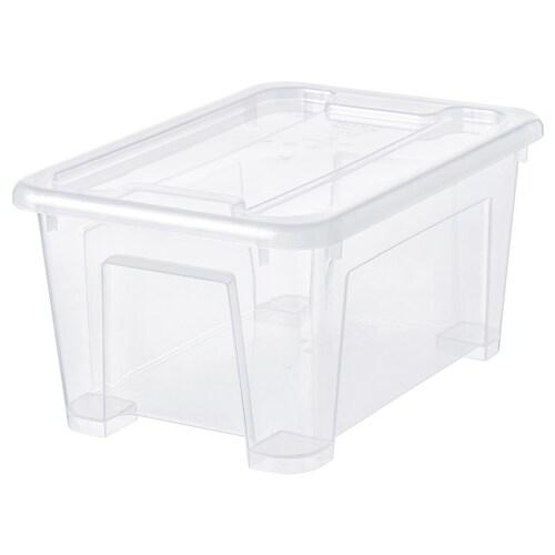 IKEA SAMLA Caixa c/tampa