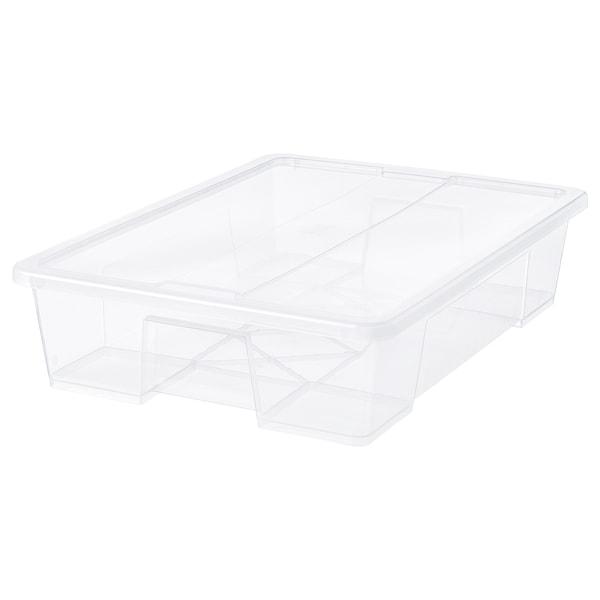 SAMLA caixa c/tampa transparente 79 cm 57 cm 18 cm 55 l