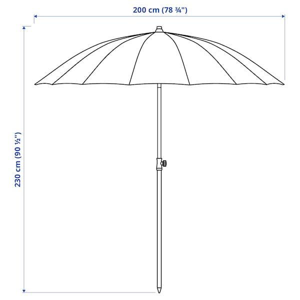 SAMSÖ Guarda-sol, inclinável/bege, 200 cm