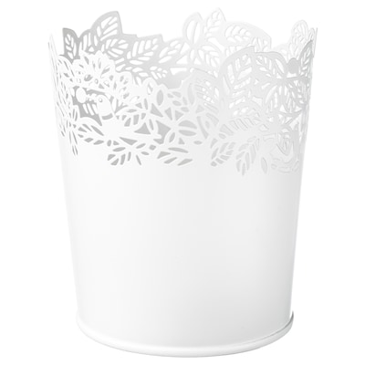 SAMVERKA Vaso, branco, 9 cm