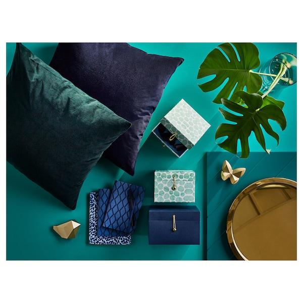 SANELA Capa, verde escuro, 50x50 cm