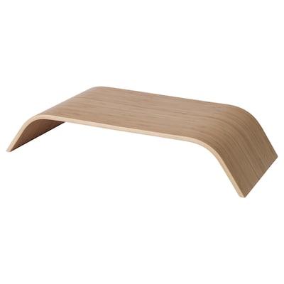 SIGFINN Suporte de monitor, altura fixa, chapa de bambu