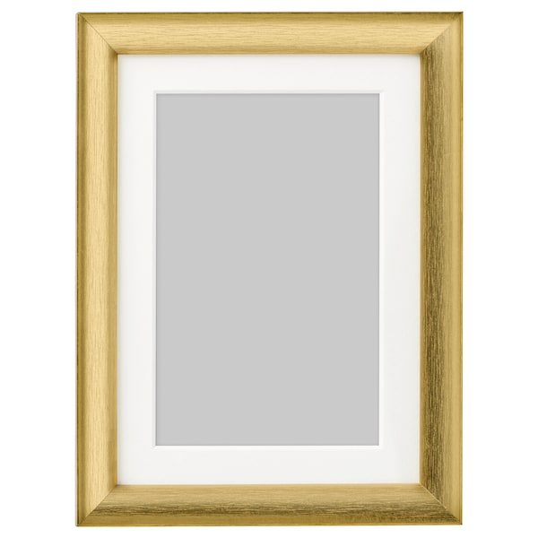 SILVERHÖJDEN Moldura, dourado, 13x18 cm