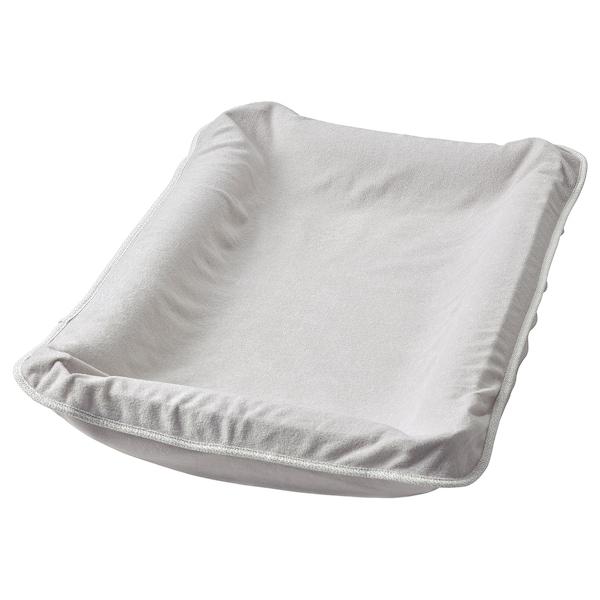SKÖTSAM Capa p/muda-fraldas, cinz, 83x55 cm