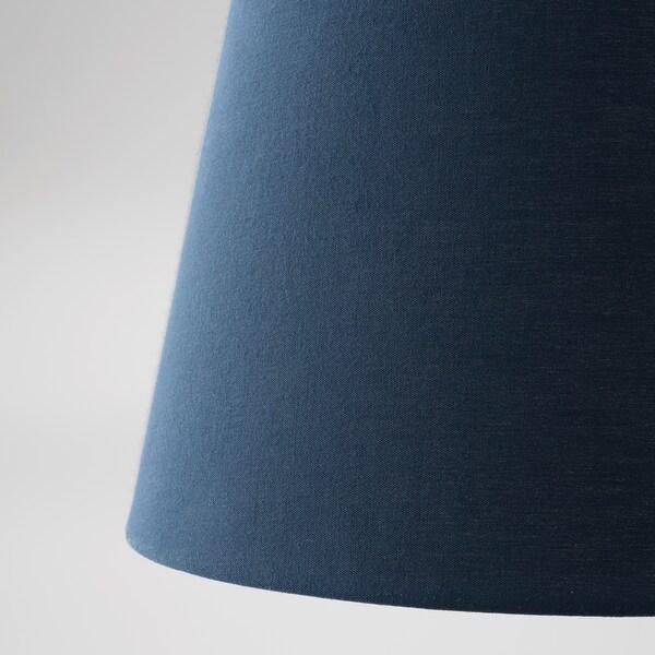 SKOTTORP Abajur, azul escuro, 19 cm