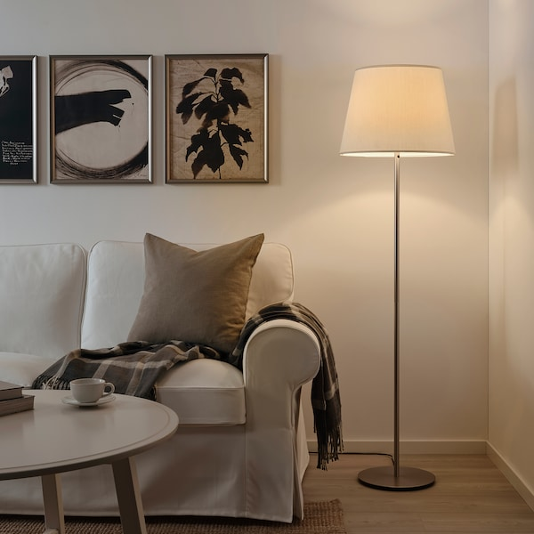 SKOTTORP Abajur, branco, 42 cm