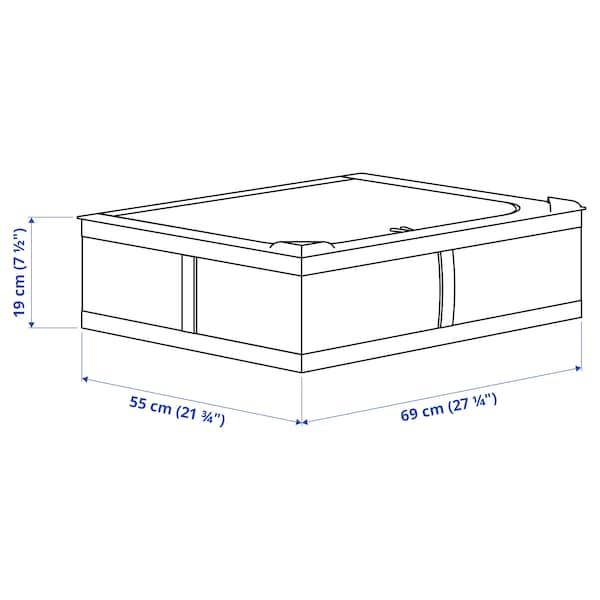 SKUBB Caixa de arrumação, branco, 69x55x19 cm