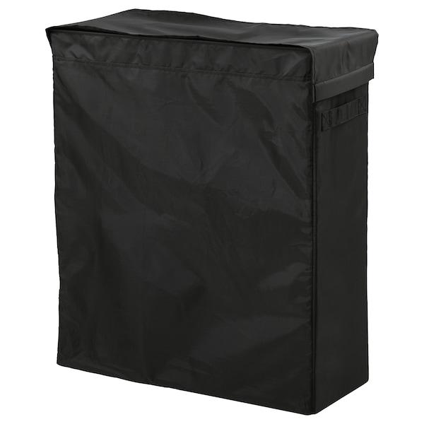 SKUBB Saco p/roupa c/suporte, preto, 80 l