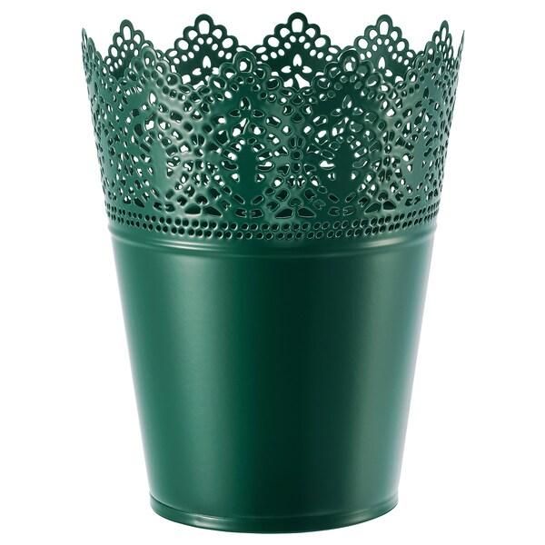 SKURAR vaso interior/exterior verde escuro 18 cm 15 cm 12 cm 14 cm