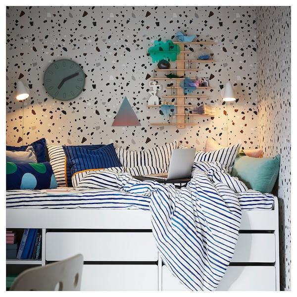 SLÄKT Estrut cama c/arrum+estrad ripas, branco, 90x200 cm